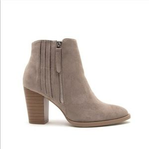 NEW grey suede ankle booties